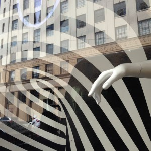 Hands, Stripes, Windows, Downtown Los Angeles, 2015